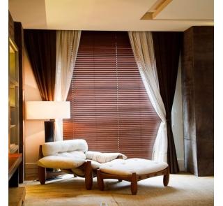 Persiana Horizontal 50mm Bambu com Cadarço