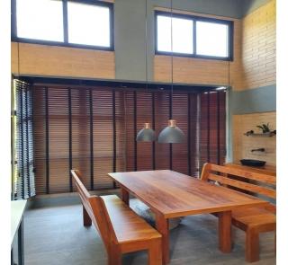 Persiana Horizontal 50mm Bambu com Fita